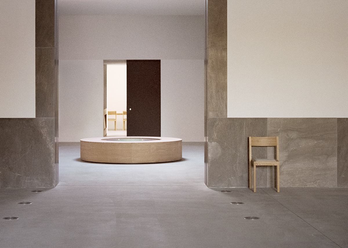 Between the auditorium and the refectory is the exhibition space. ©Simone Bossi