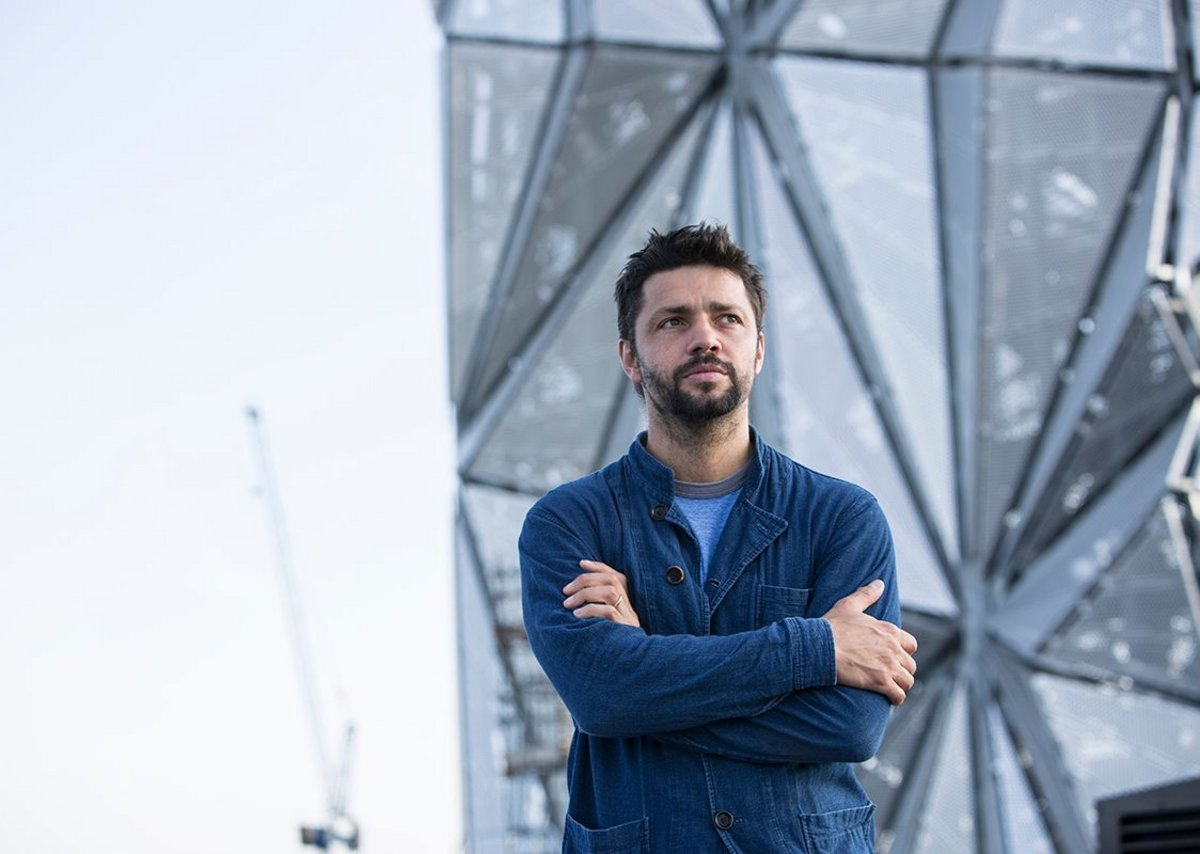 Conrad Shawcross and The Optic Cloak.