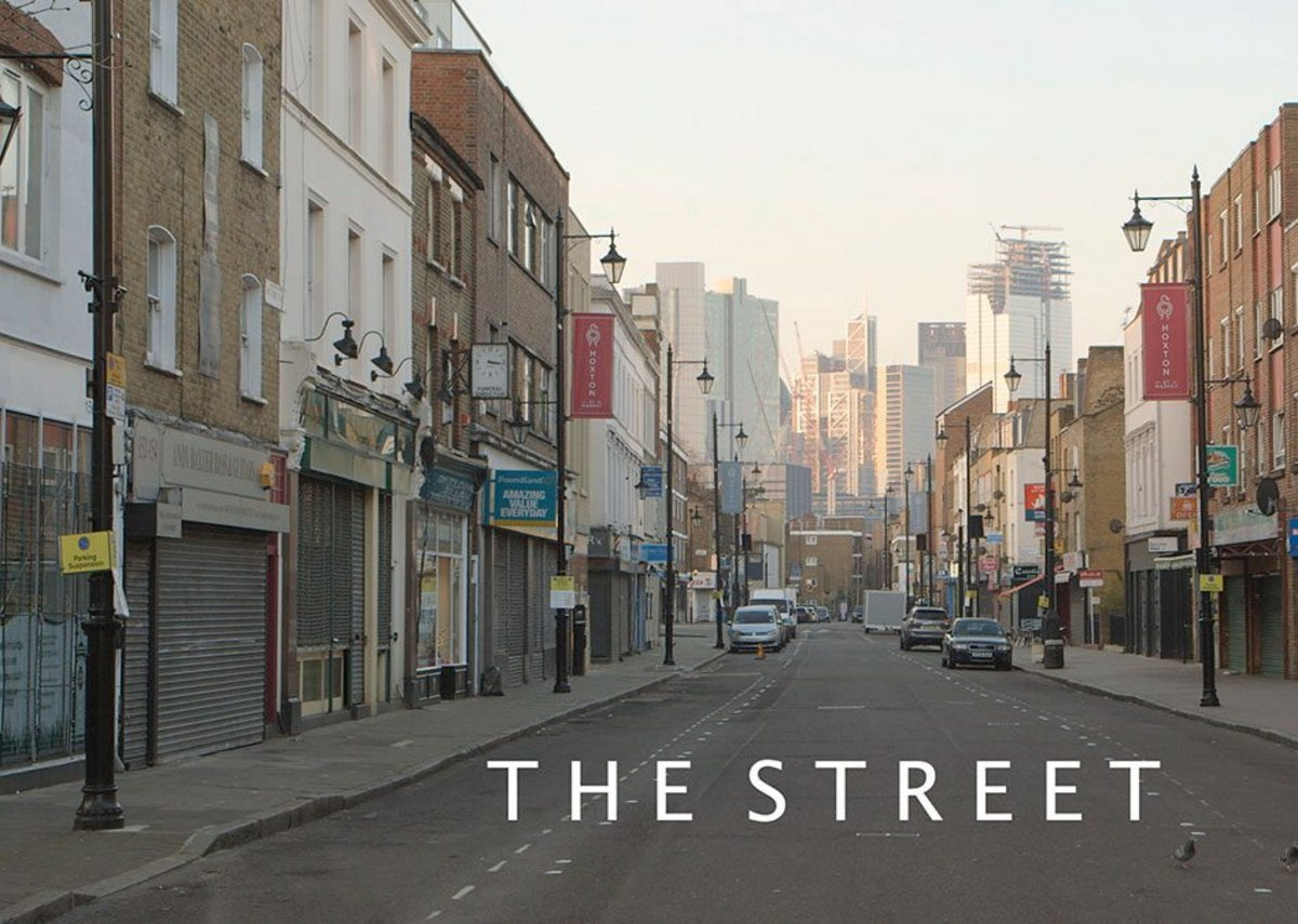 Film still of Hoxton Street from The Street, a film by Zed Nelson. The film has recently been released on DVD and video on demand