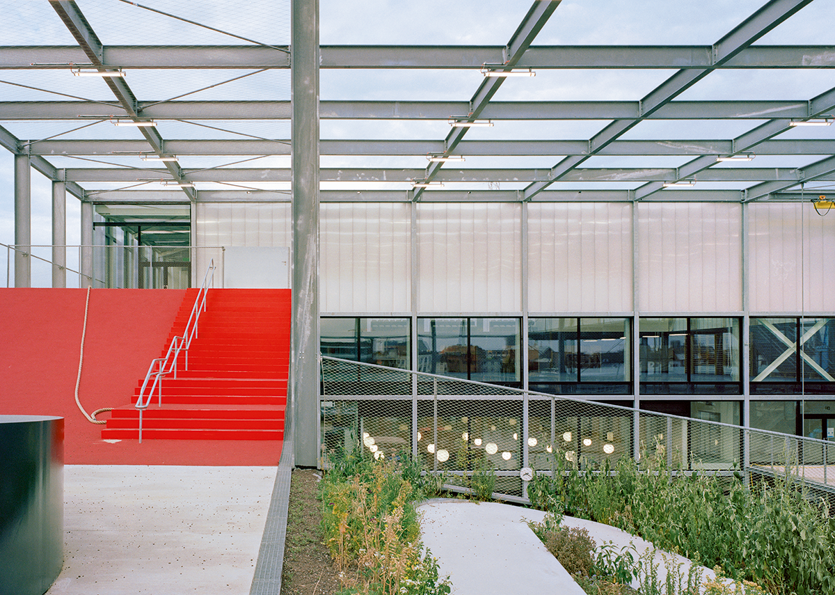 Exterior spaces readily connect back to interior ones, making the journey through the building a fluid event.