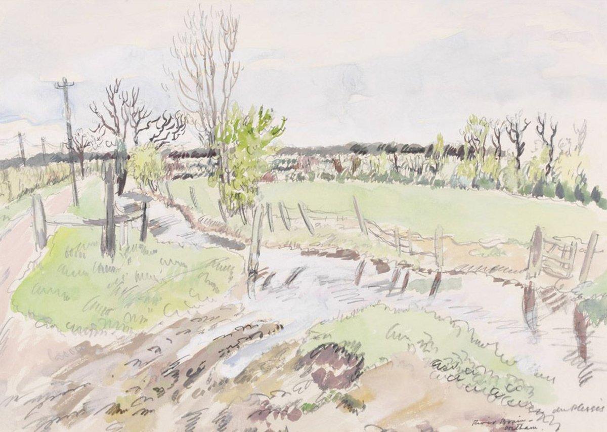 HE du Plessis, River Brain, Witham, Essex, c 1940. Pilgrim Trust.