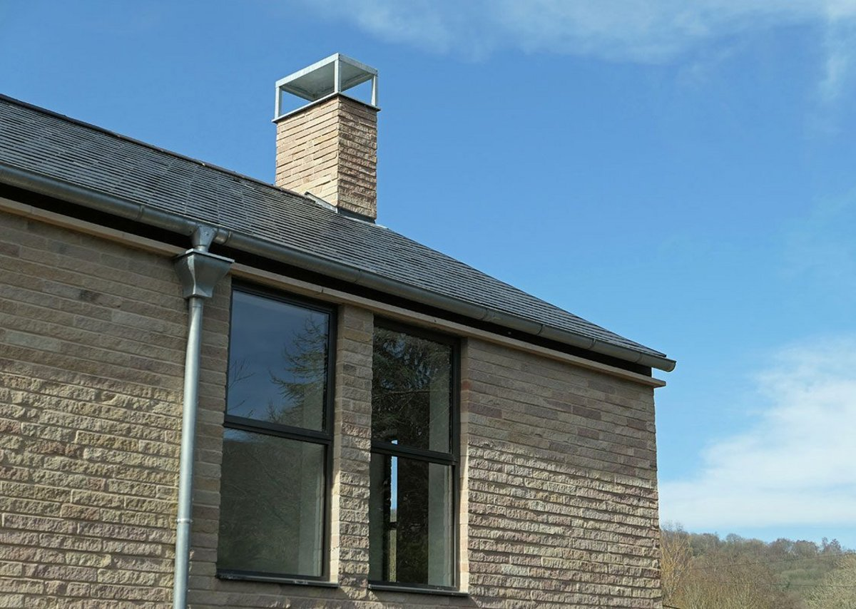 The chimneys are designed to be functional