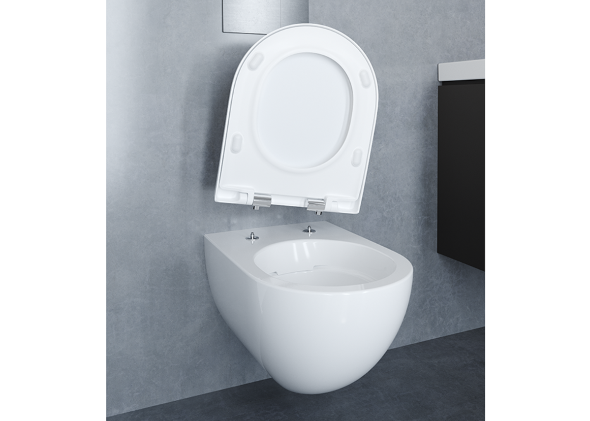 Geberit QuickRelease seats make toilet cleaning easier.