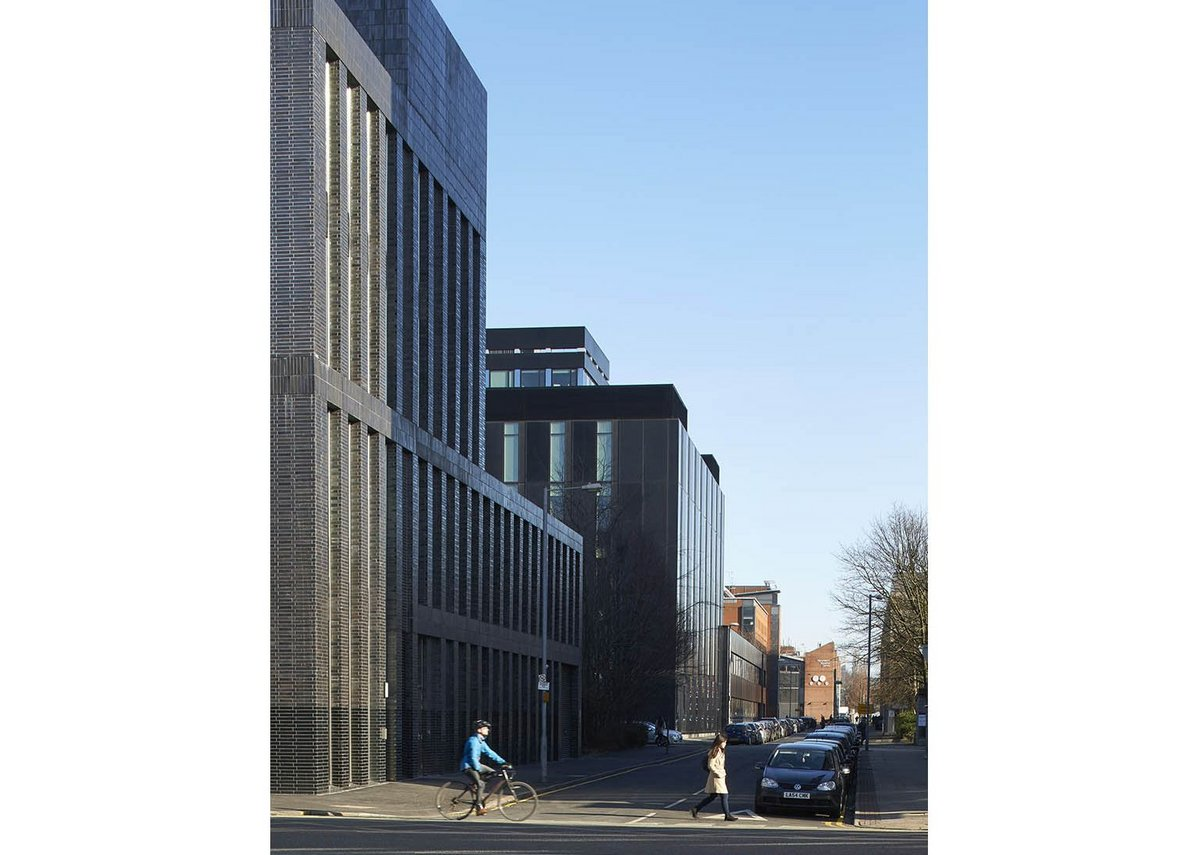 Down one block to FCBS' Manchester School of Art. Its shimmering Business School is also within walking distance.