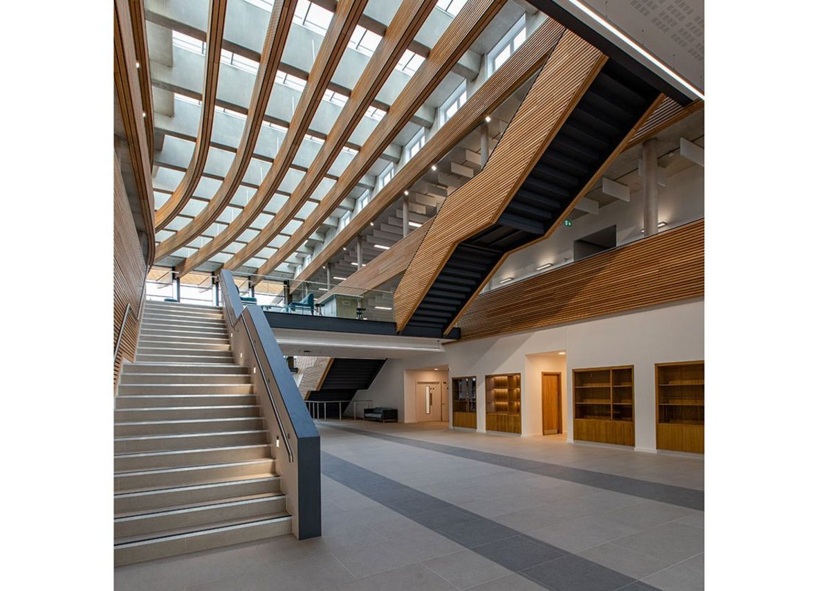 VELUX at UKHO: modularised and prefabricated, the skylights simplify a complex specification for natural daylight, ventilation and modern aesthetics.