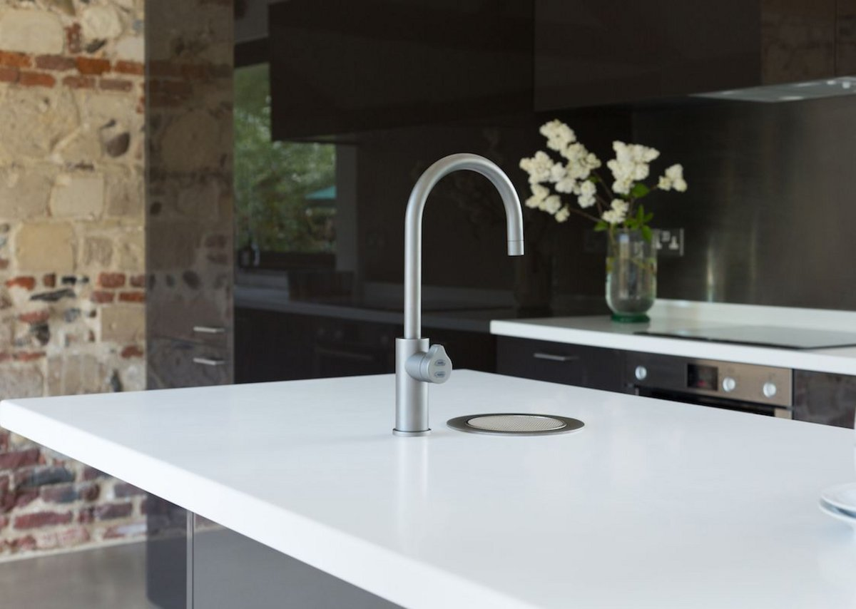Zip HydroTap Arc in gunmetal.