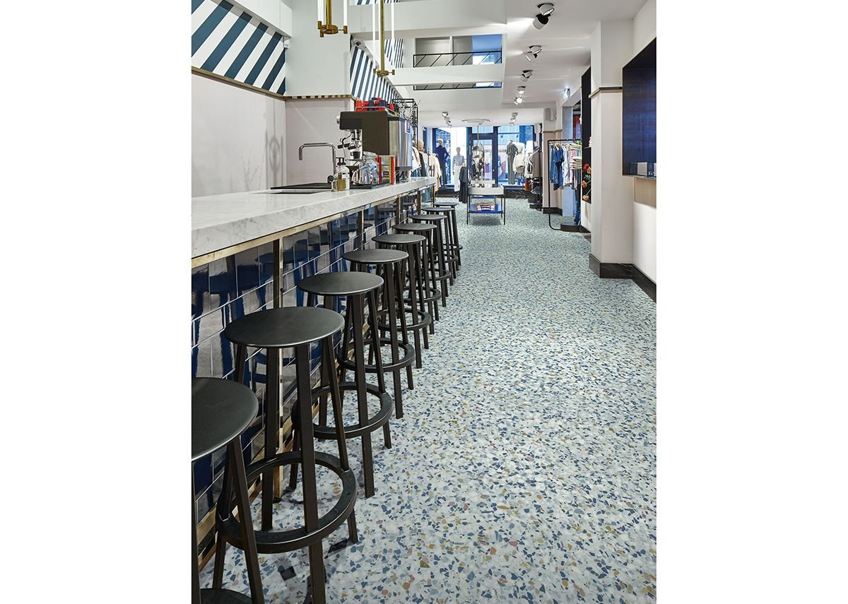 Forbo's Eternal Material vinyl flooring in Colourful Terrazzo 10182.