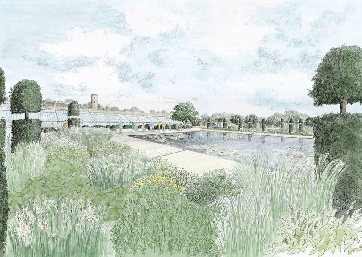 Masterplan: design for walled garden, RHS Garden Bridgewater.