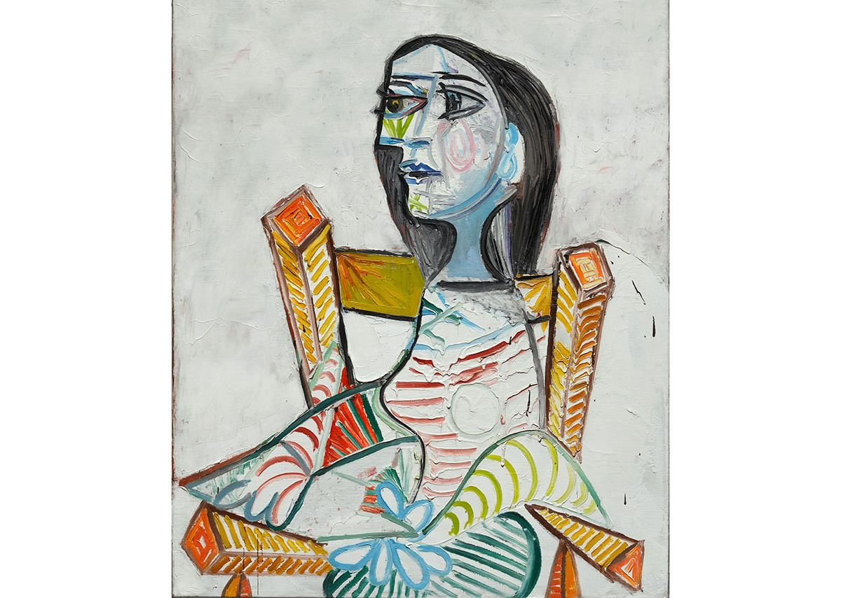 Pablo Picasso, Portrait de femme,1938, Courtesy of Centre Pompidou, Paris. © ADAGP, Paris. Photo © Centre Pompidou, MNAM-CCI, Dist.RMN-Grand Palais/Georges Meguerditchian