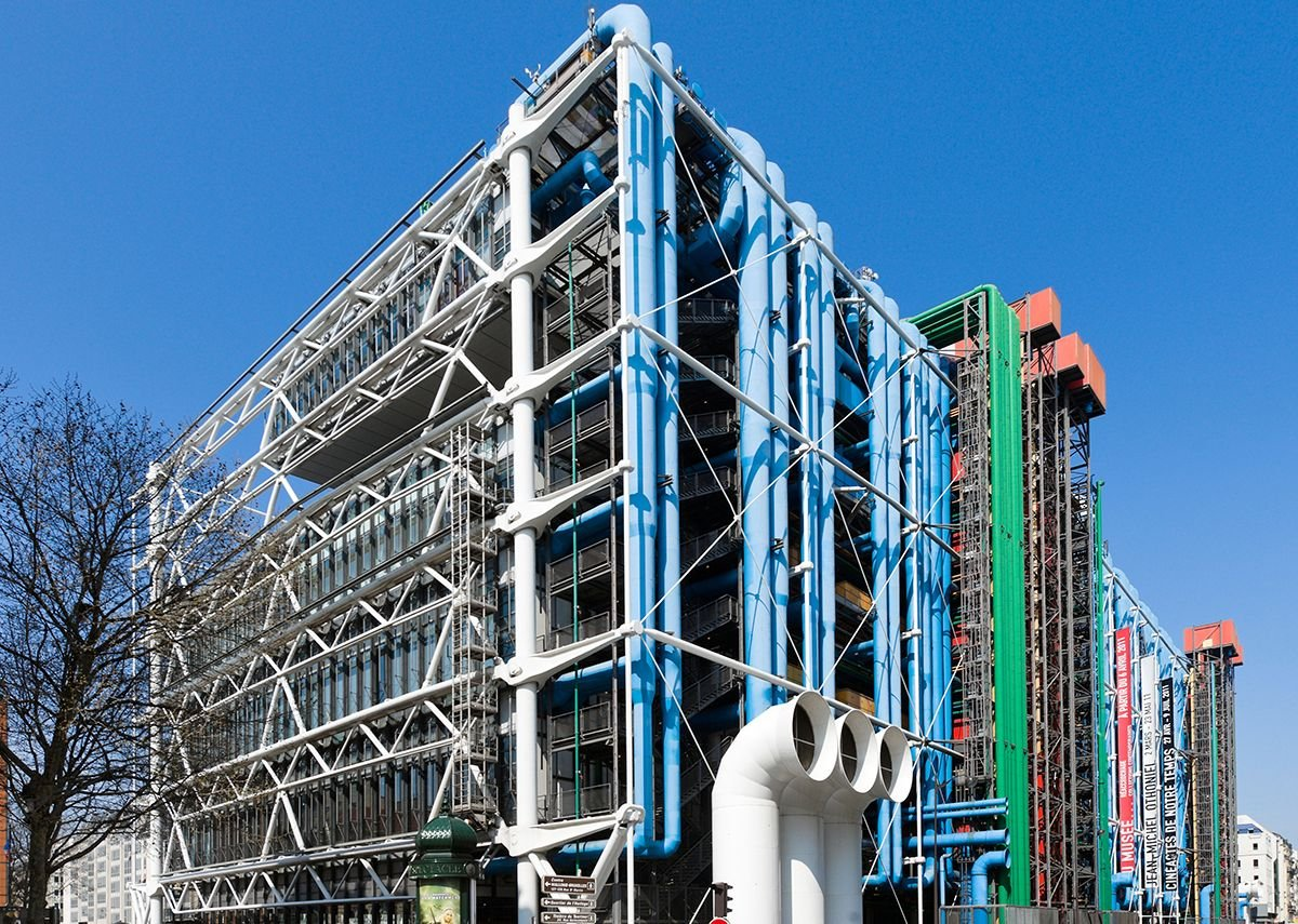 Exterior view of Centre Pompidou Paris France