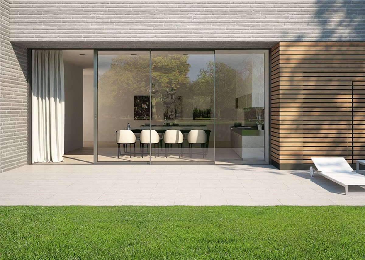 New triple-glazed sliding doors from Schueco offer enhanced thermal performance.