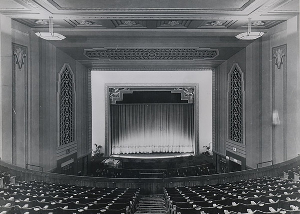 Old theatre interior.