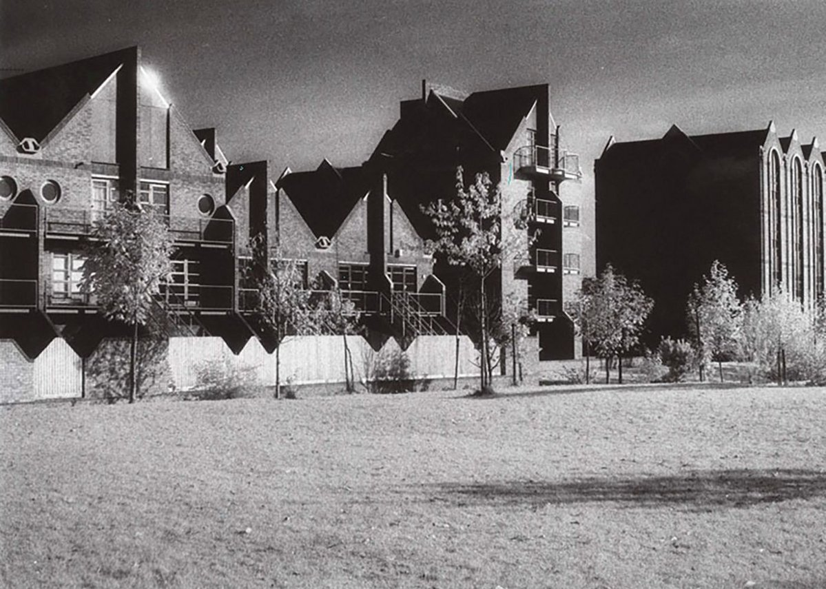 Vital early competition win - the Elephant Lane housing in Rotherhithe, 1984.