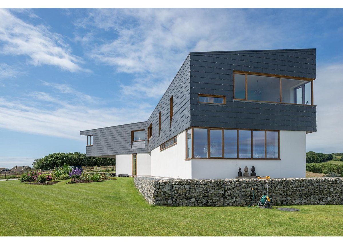 Cupaclad rainscreen cladding on a new build house near Pett in Essex, designed by Alma-nac Architects.