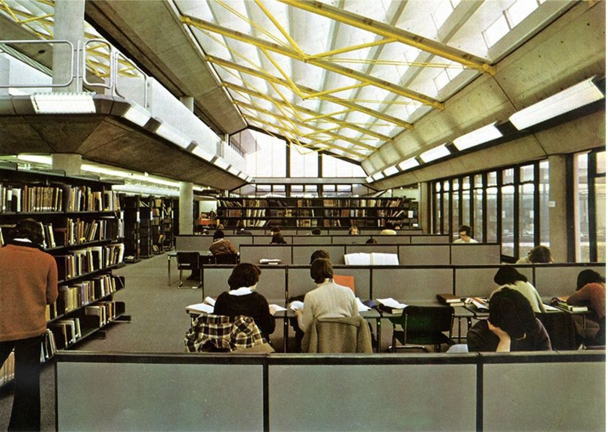 How Architectural Review showed the original ABK library in 1979