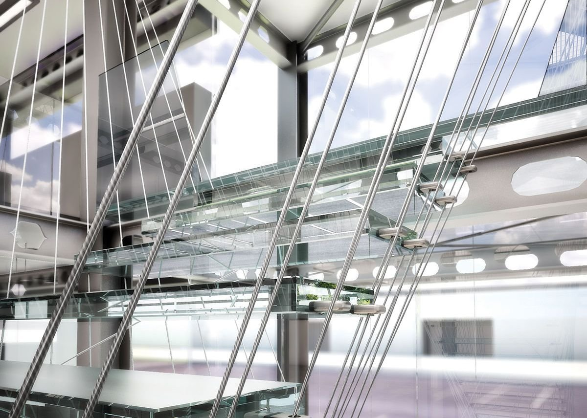 1992: Aluminium stair, London, UK.