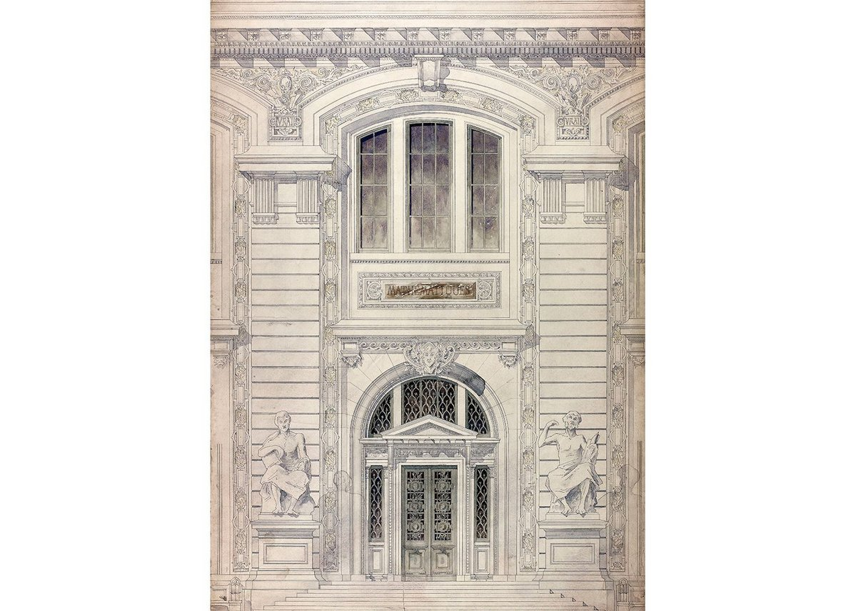 Design for Palais de Sciences – elevation detail, 1890-6.