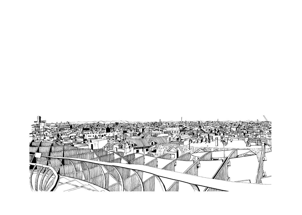 Study of Metropol Parasol, Seville.