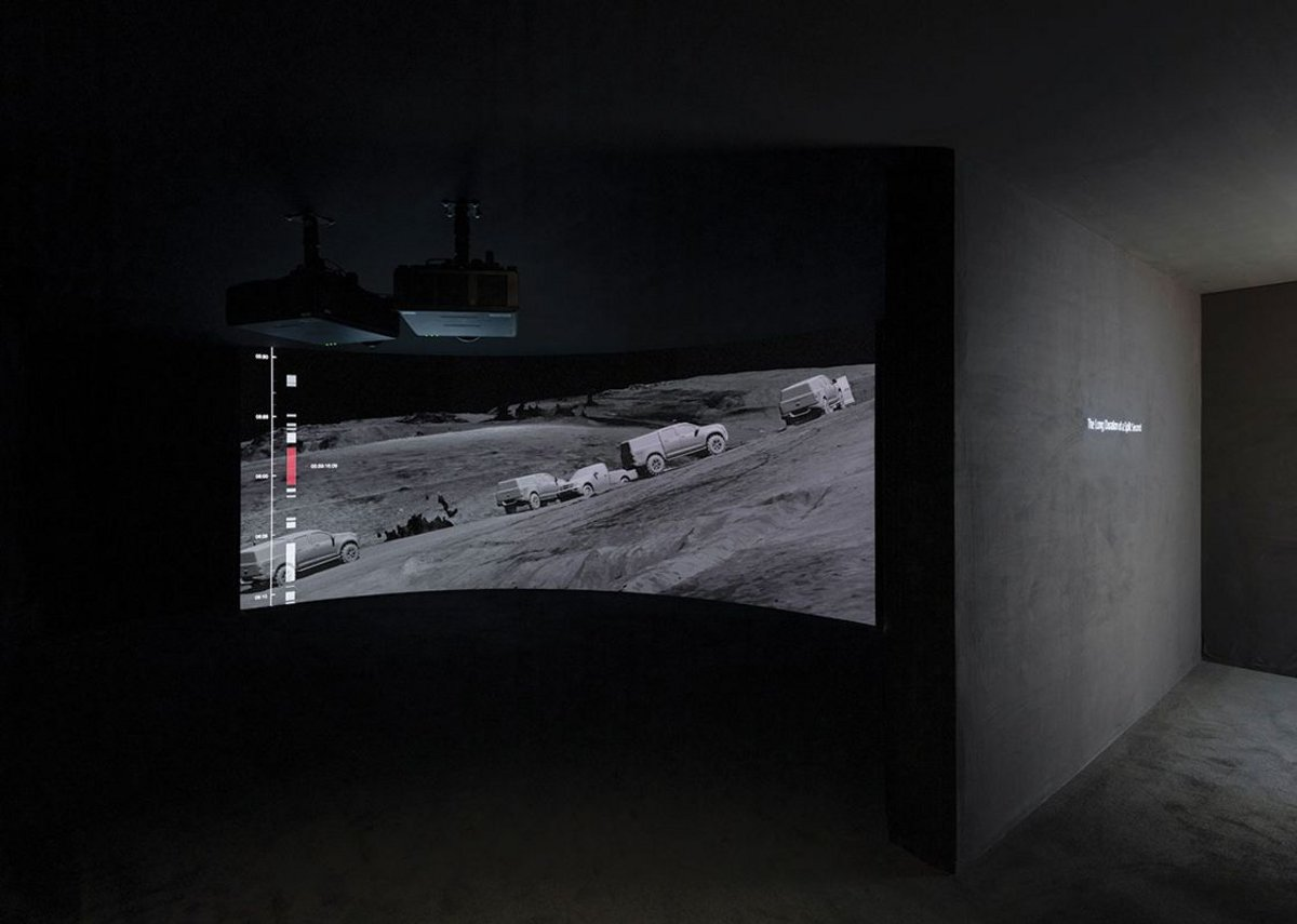 The Long Duration of a Split Second: Killing in Umm al-Hiran 18 January 2017, Negev/ Naqab, Israel/ Palestine: 2017 – ongoing, video, model, texts. Turner Prize installation view, Tate Britain.