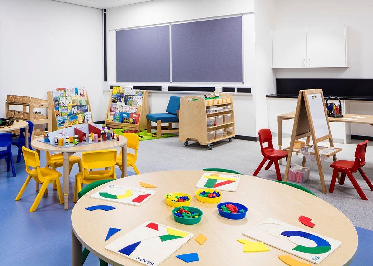 Reception classroom.