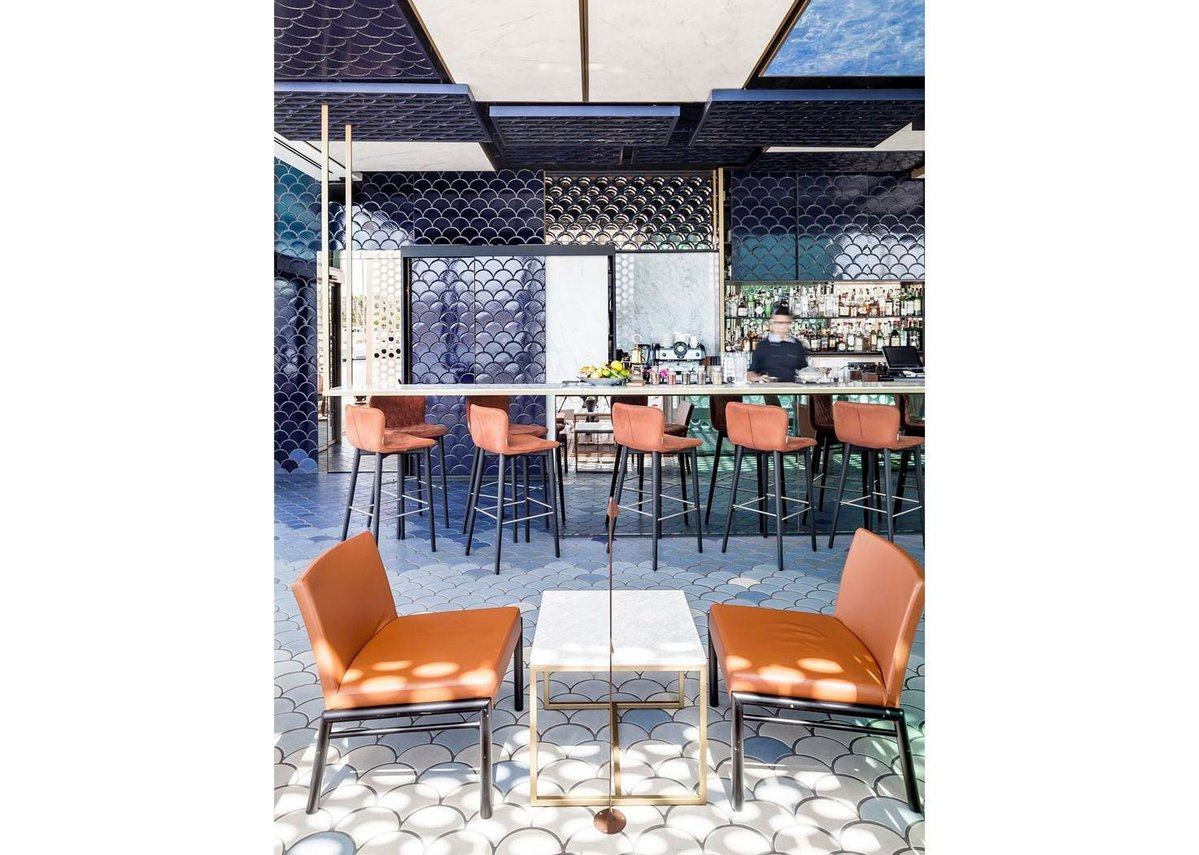 2015 Tile of Spain Awards  –  Interior Design winner: Blue Wave Cocktail Bar by El Equipo Creativo