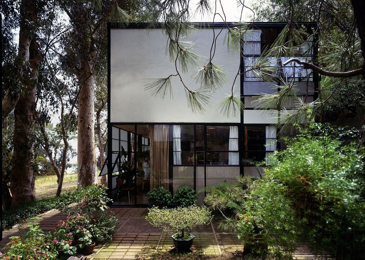 Eames House courtyard. Photo Timothy Street_Porter.