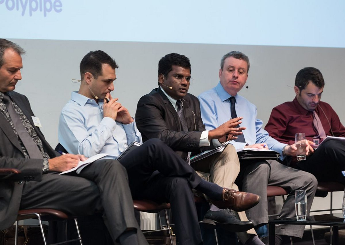 On the front line: city resilience officers lay out their challenges. From left to right: Arnoud Molenaar (Rotterdam); Toby Kent (Melbourne); K S Kandasamy (Chennai); Alastair Brown (Glasgow); Alessandro Coppola (Rome).