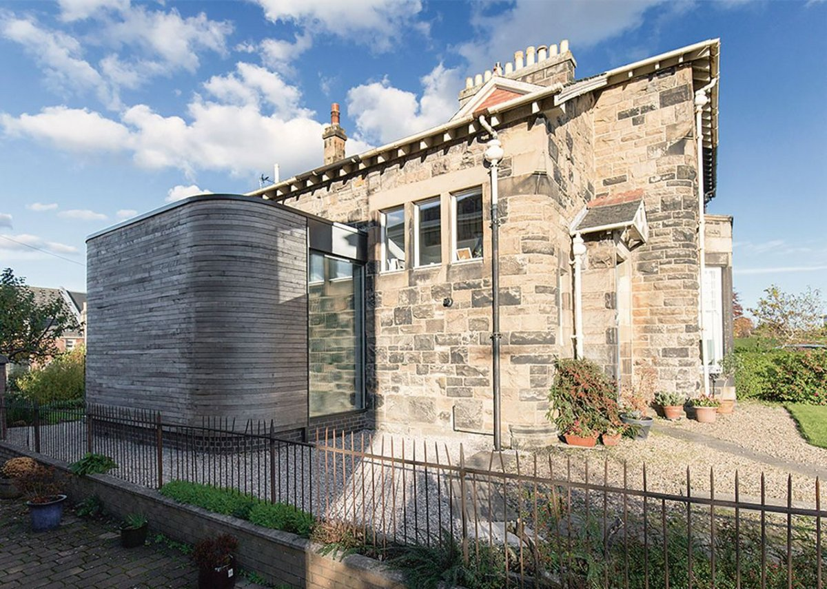 Konishi Gaffney personally fitted cladding on the steam-bent, timber-clad Pollokshaws Rd extension.