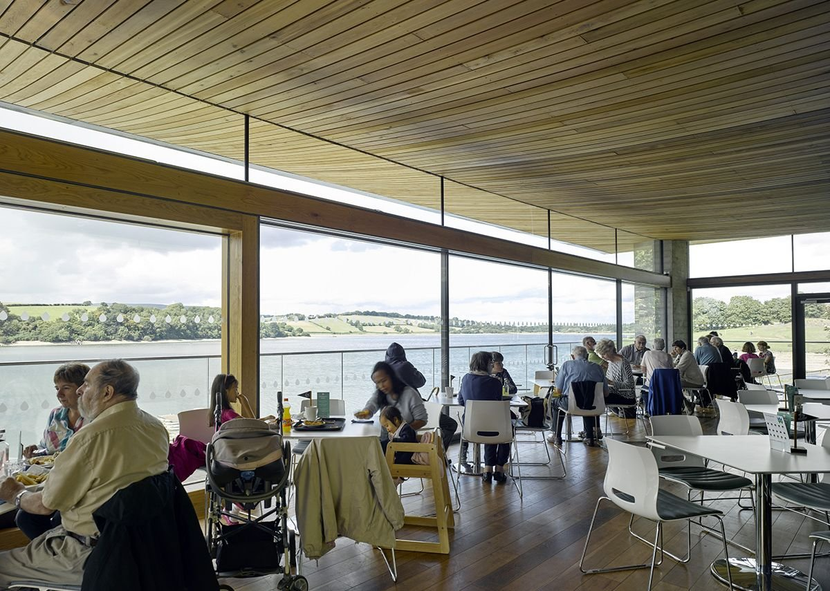 3 Floor Elevation Design : Welsh water visitor and watersports centres ribaj