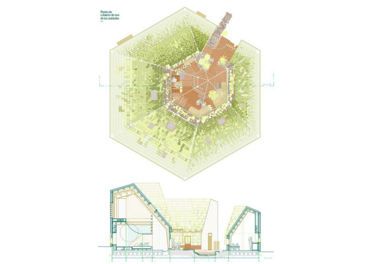 'A proposal for a centre for unaccompanied under-age immigrants' by Andrea Puebla Yubero, winner of the Final Degree Project category.