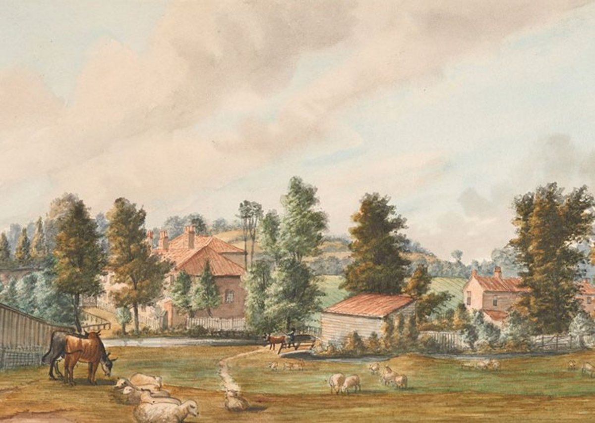 Fields at Bayswater, Looking Towards Craven Hill, 1793, Paul Sandby, watercolour. (c) Museum of London The stream in this painting was known as the Bayswater Rivulet, or Westbourne.