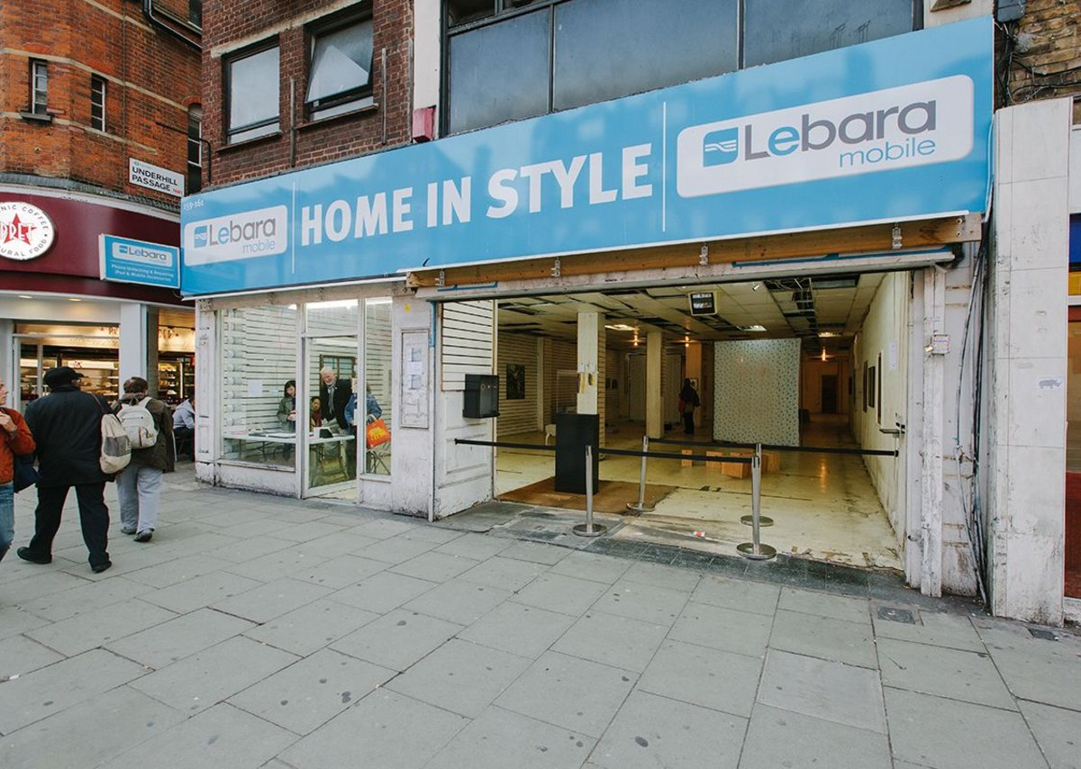 Underused unit on Camden High Street before its transformation.