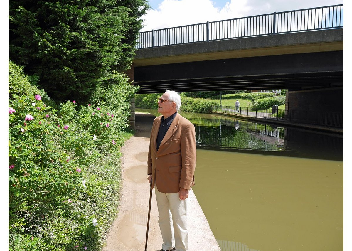 Rams declares himself satisfied, and we stroll along the canal for lunch, then he's off back to Cologne for his 85th birthday.
