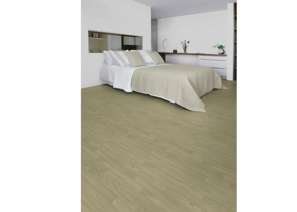 Gerflor's Taralay Initial Compact vinyl flooring in Esterel Blond.