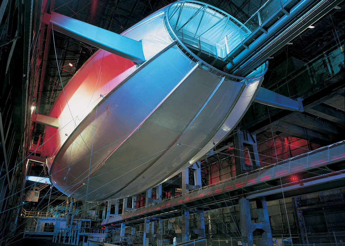 Magna Centre, a transformation of a redundant steelworks in Rotherham into a science adventure centre. The project won the 2001 RIBA Stirling Prize.  Photo: © Ben Luxmoore
