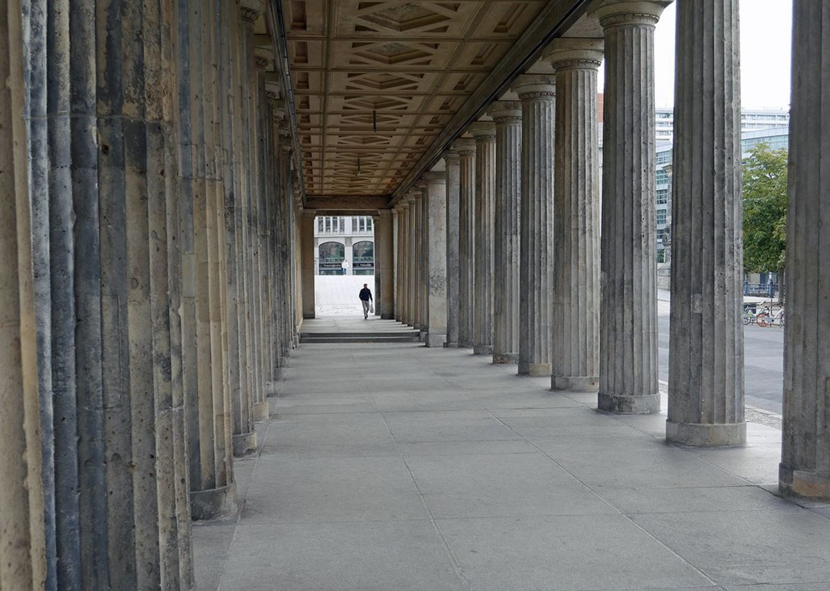 The 19th century Museum island colonnades by Stüler.