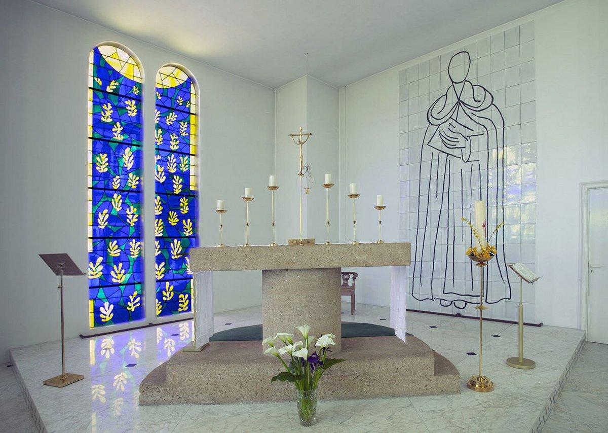 Altar at Vence Chapel. D