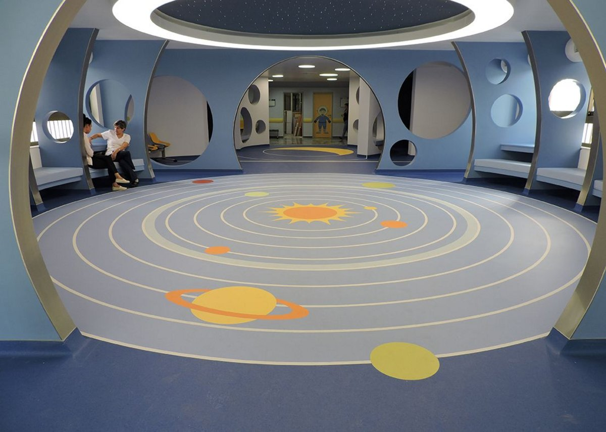 Gerflor flooring at the Kyriakou Children's Hospital.
