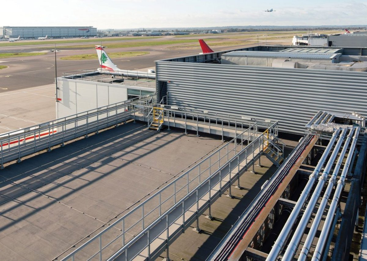 Solvent-free BMI Sealoflex waterproofing applied to an international airport pier.