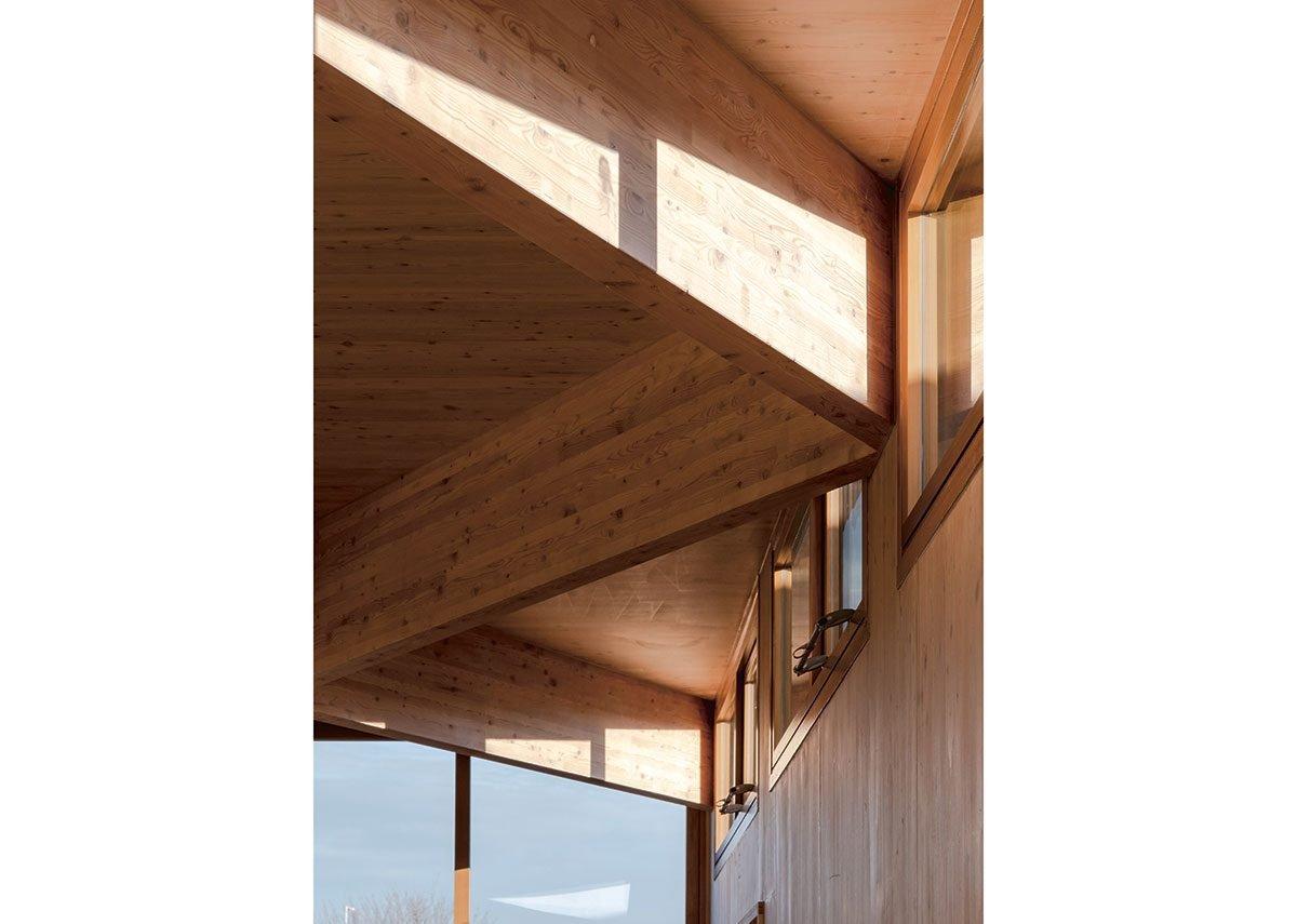 Clerestory glazing borrows ideas from the 1950 junior academy building.