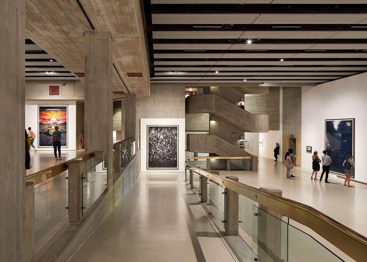 Installation views of Andreas Gursky in Hayward Gallery.