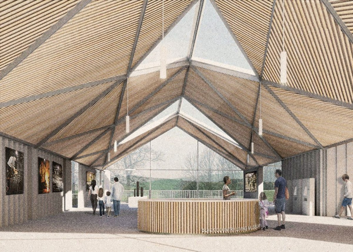 Interior of the Black Country Living Museum visitor centre due to open next year.