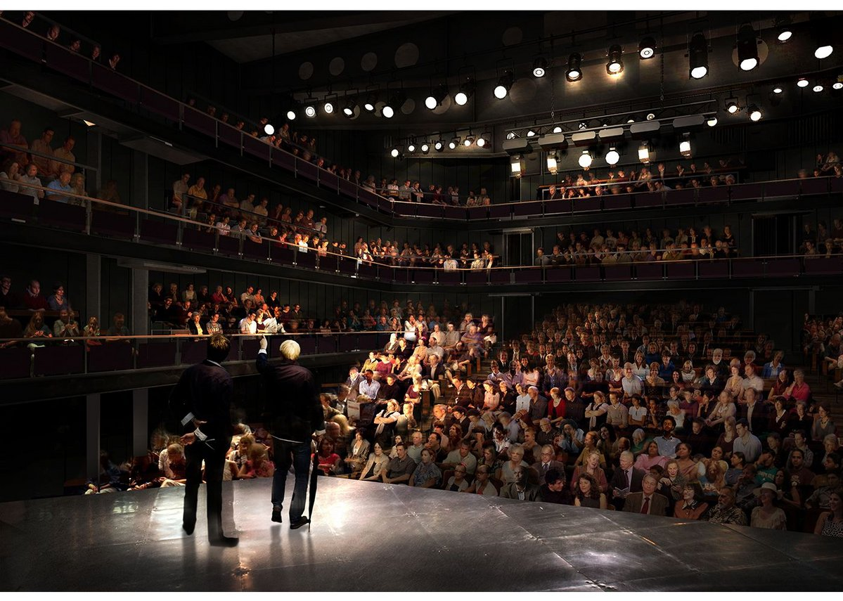 The 900-seat auditorium for the London Theatre Company at Tower Bridge is innovative in its scale and delivery: few theatres of this size have been built in the capital in the last century; it is being designed to employ the latest prefabricated modular construction techniques. Visualisation: AVR.