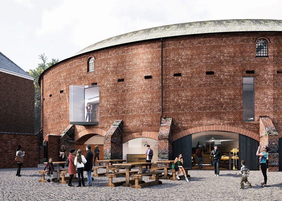 New openings in the Roundhouse connect interior spaces to the canal setting.