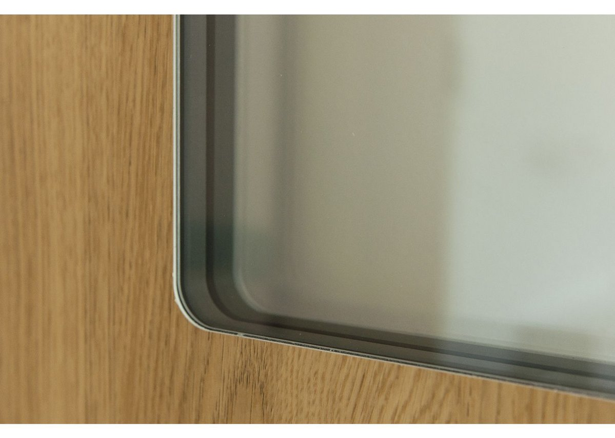 Hygiglaze flush-glazing creates a clean finish around the vision panel