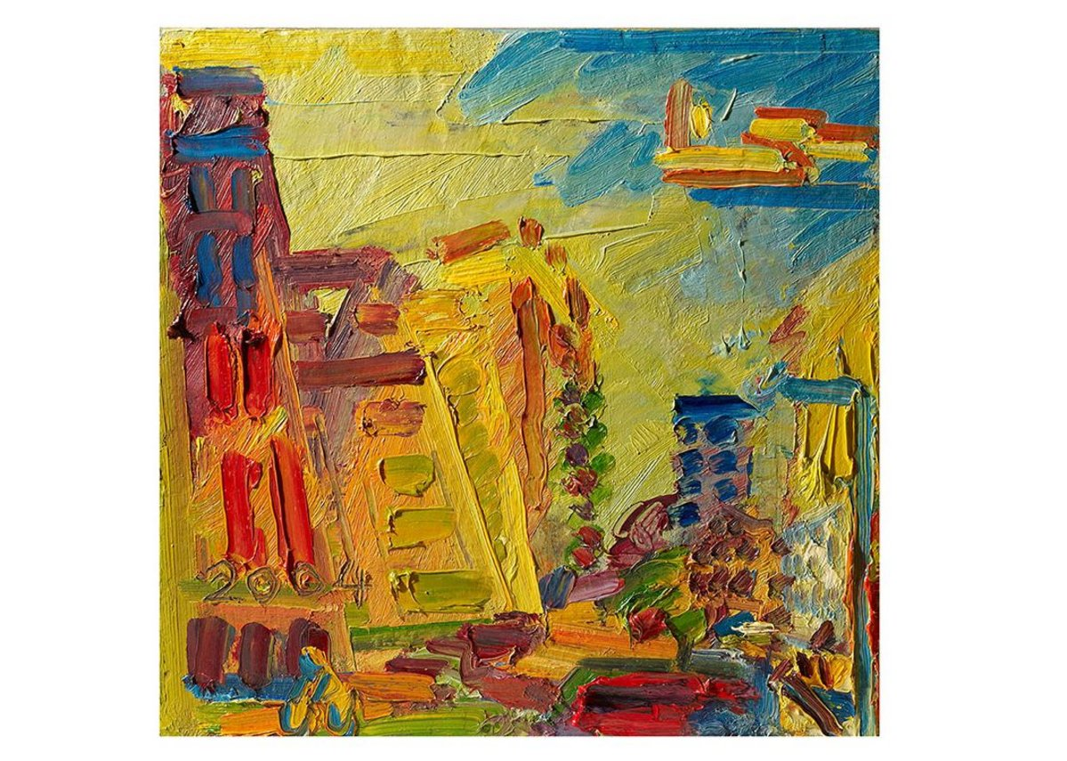 Mornington Crescent, Summer Morning II by Frank Auerbach, 2003.