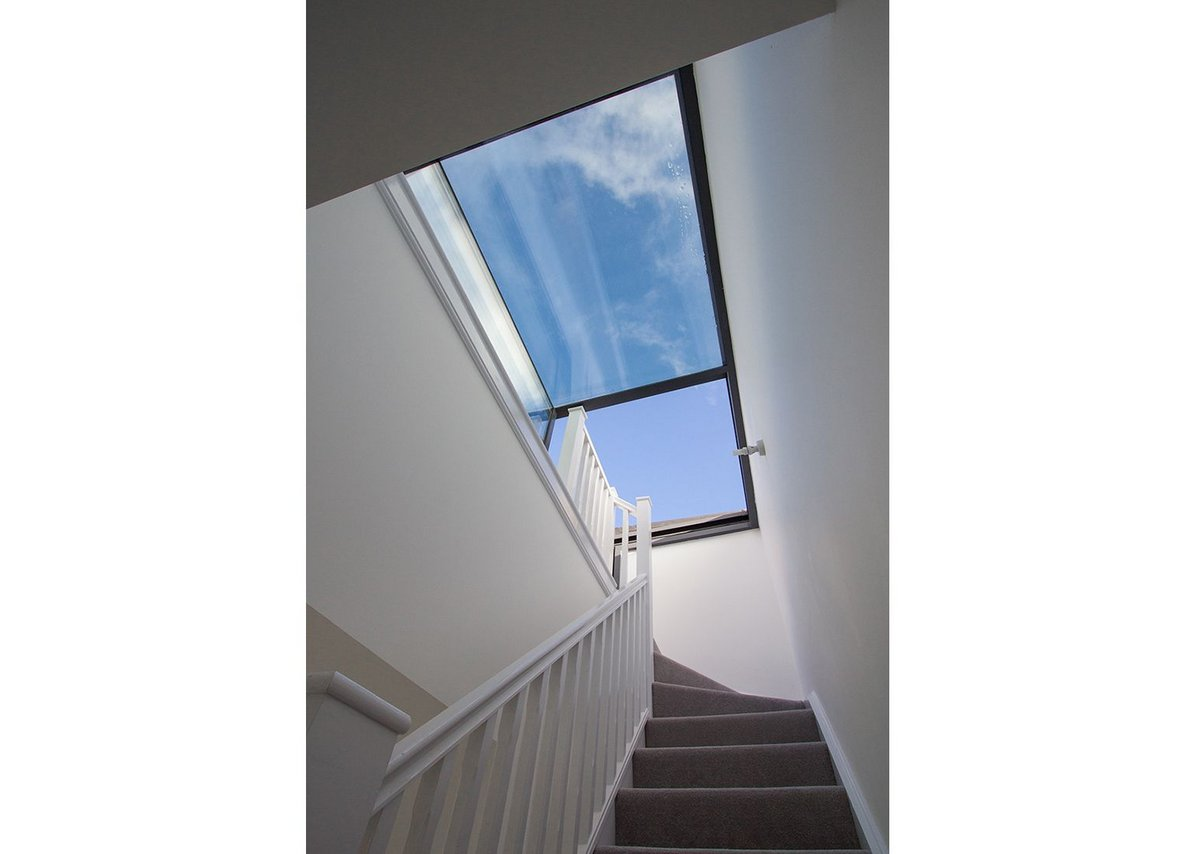 Sufficient head height for access to terrace via boxed rooflight