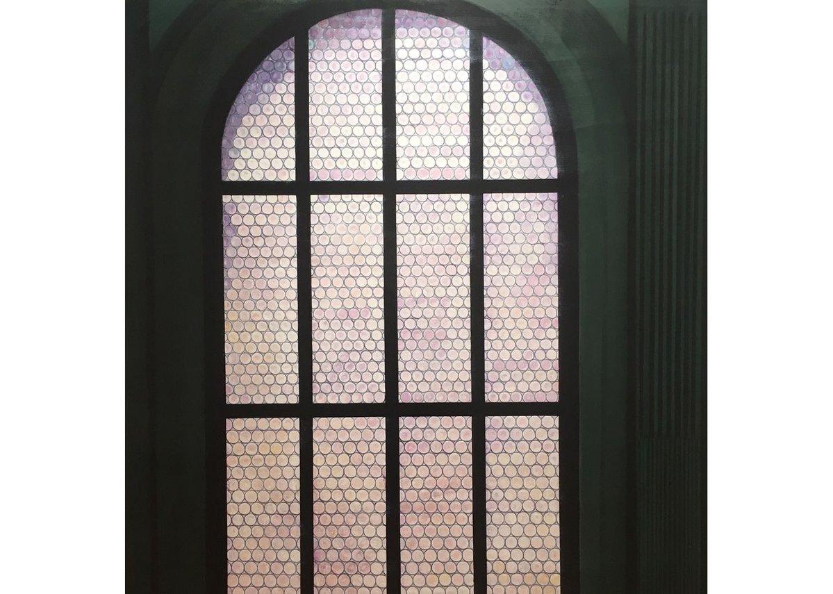 Florentine Window, Arturo Di Stefano, 2015, oil on linen, 182.9 x 167.6 cm, courtesy of Purdy Hicks Gallery.