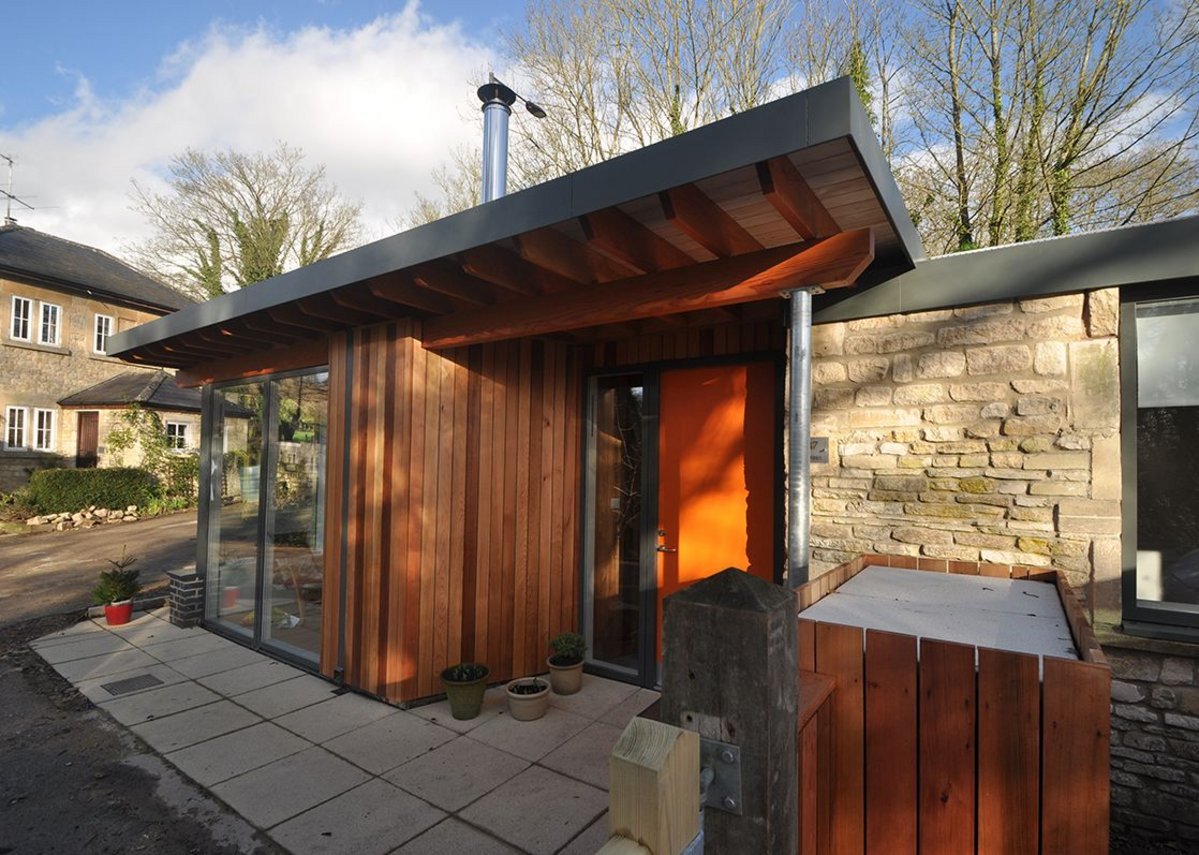 The house we built. The simple single storey extension in Kelston Road, Bath, on which Designscape tried out this method
