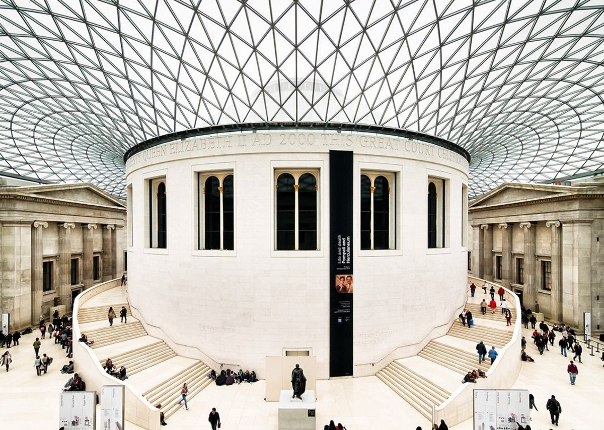 British Museum courtyard designed by Foster + Partners